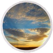 Texas Sized Sunset Round Beach Towel