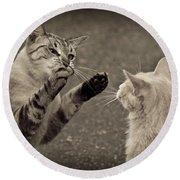 That Mouse Was This Big Round Beach Towel by Kim Henderson