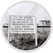 Berlin Wall American Sector Round Beach Towel