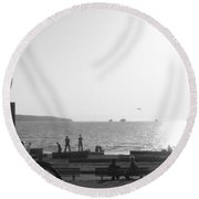 The Ancient Observer Round Beach Towel