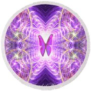 The Angel Of Wishes Round Beach Towel
