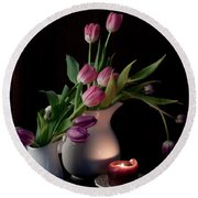 The Beauty Of Tulips Round Beach Towel