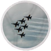 The Blue Angels Round Beach Towel by Randy J Heath