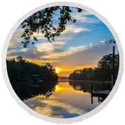The Calm Place Round Beach Towel