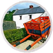 Round Beach Towel featuring the photograph The Cart by Charlie and Norma Brock