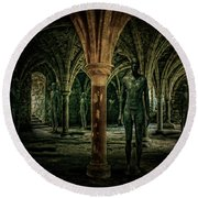 Round Beach Towel featuring the photograph The Crypt by Chris Lord