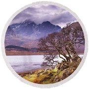 The Cuillins Skye Round Beach Towel
