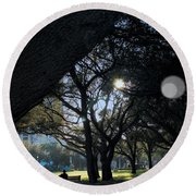 The Day's Reflection Limited Edition Bodecoarts Round Beach Towel