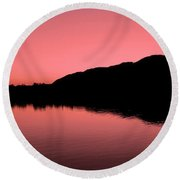 Round Beach Towel featuring the photograph The End Of The Day ... by Juergen Weiss