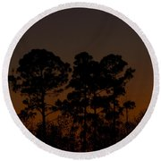 Round Beach Towel featuring the photograph The Fingernail Moon by Dan Wells