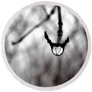 The Foretelling - Raindrop Reflection Round Beach Towel by Angie Rea