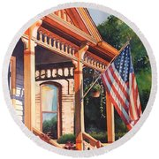 The Founders Home Round Beach Towel