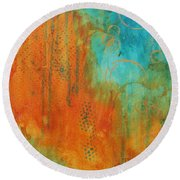 The Garden Round Beach Towel by Nicole Nadeau
