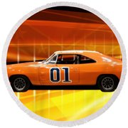 The General Lee Round Beach Towel