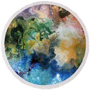 The Great Diversity Round Beach Towel by Sally Trace