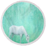 The Green Glade Round Beach Towel by Steve Mitchell