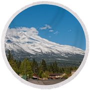 The Heart Of Mount Shasta Round Beach Towel