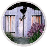 The Heart, Like An Old Gate Needs Care And Attention Round Beach Towel