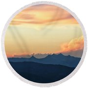 Round Beach Towel featuring the photograph The Idaho Selkirks by Albert Seger