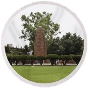 Round Beach Towel featuring the photograph The Jallianwala Bagh Memorial In Amritsar by Ashish Agarwal