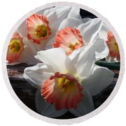 Round Beach Towel featuring the photograph The Ladies Of Spring by Kay Novy
