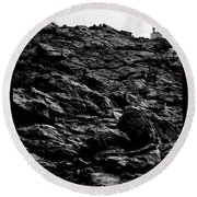 Round Beach Towel featuring the photograph The Lighthouse1 by Pedro Cardona