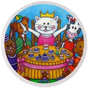The Little Tea Party Round Beach Towel