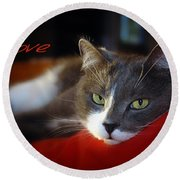 Round Beach Towel featuring the photograph The Look Of Love by Vicki Ferrari