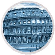 Round Beach Towel featuring the photograph The Majestic Coliseum by Luciano Mortula