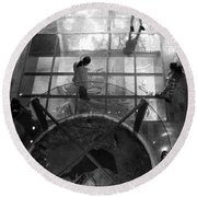 Round Beach Towel featuring the photograph The Oculus by Lynn Palmer
