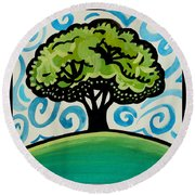 The Only Remaining Vestige Round Beach Towel