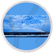 The Promise Round Beach Towel by Linda Mesibov