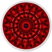 The Red Abyss Round Beach Towel