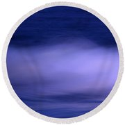 The Red Moon And The Sea Round Beach Towel
