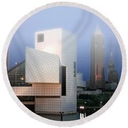 The Rock And Roll Hall Of Fame Round Beach Towel
