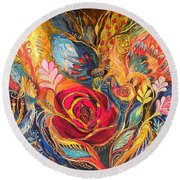 The Rose Of East Round Beach Towel