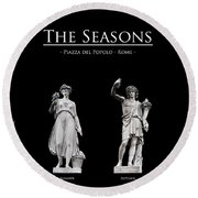 The Seasons Round Beach Towel