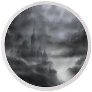 The Skull Castle Round Beach Towel
