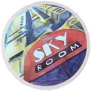 The Sky Room Round Beach Towel