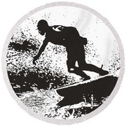 The Surfer Round Beach Towel