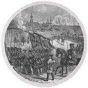 The Surrender Of Louisbourg, 1758 Round Beach Towel