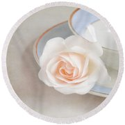 The Sweetest Rose Round Beach Towel by Lyn Randle