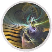 The Vortex - Abstract Art Round Beach Towel