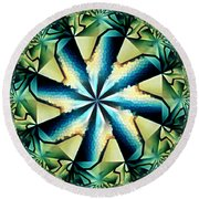 The Waves Of Silk Round Beach Towel