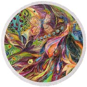 The World Of Lilies ...... The Original Can Be Purchased Directly From Www.elenakotliarker.com Round Beach Towel