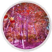 Round Beach Towel featuring the photograph Thicket In Color by George Pedro