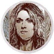 Three Interpretations Of Celine Dion Round Beach Towel by J McCombie