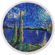 Three Wishes Round Beach Towel