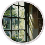 Round Beach Towel featuring the photograph View Through The Window by Marilyn Wilson