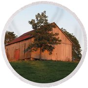 Tobacco Barn II In Color Round Beach Towel